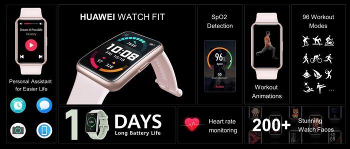 مشخصات ساعت هوشمند هواوی واچ فیت