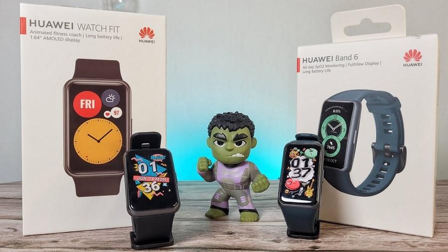 مقایسه ساعت هوشمند هواوی واچ فیت و دستبند هوشمند هواوی بند 6